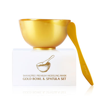 香蒲丽 黄金面膜碗、勺 面膜辅助工具 美容护肤