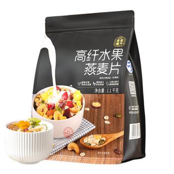老金磨方  高纤水果燕麦片1100g袋装