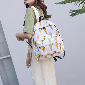 雅诗罗韩版休闲双肩包女时尚卡通彩绘背包大容量包包