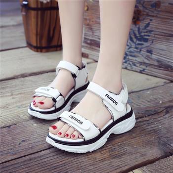 网红运动女凉鞋厚?#23039;?#31957;鞋女夏季韩版仙女鞋学院女鞋