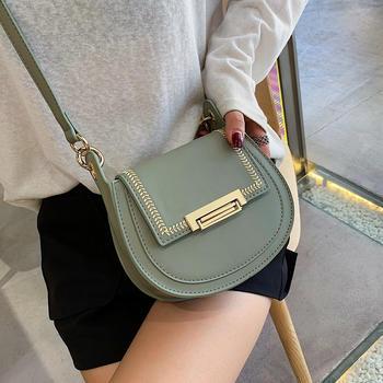 宾尼兔韩版时尚新款半圆马鞍包包女百搭洋气斜挎小包