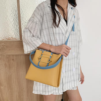 雅诗罗2019欧美时尚新款水桶包包休闲百搭单肩女包