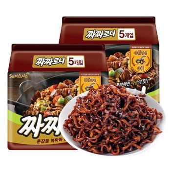 韩国进口三养火鸡面炸酱面140g*10包速食泡面拉面
