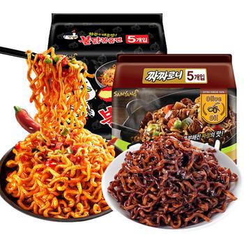 韩国三养超辣火鸡面炸酱面组合10袋方便面泡面拌面