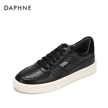 Daphne/达芙妮春秋平底系带休闲板鞋复古女鞋1018404101