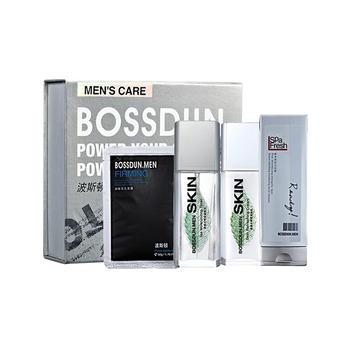 波斯顿 男士补水保湿礼享装  洁面+爽肤水+乳液+面膜