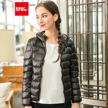 冬季新品女款休闲时尚百搭韩版轻薄款连帽轻羽绒服
