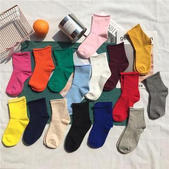 啵啵纯3双袜子女韩版堆堆袜卷边中筒袜ins袜子夏季薄