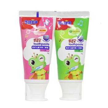 青蛙王子(FROGPRINCE)儿童牙膏防蛀水果味双效护齿