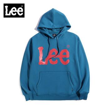 Lee男装秋冬款连帽蓝色袋鼠兜长袖休闲卫衣L296312SB6RH