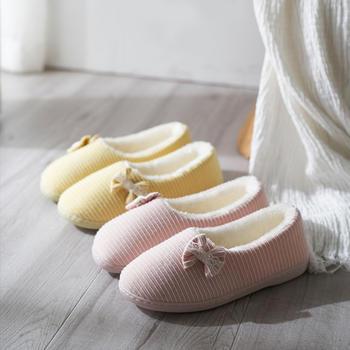 远港月子鞋女可爱秋冬保暖室内防滑产后全包跟棉拖鞋