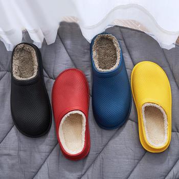 【换季清仓】防水棉拖冬季卫生间厨房家居鞋男女情侣防滑厚底拖鞋