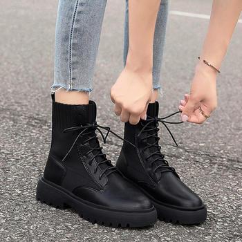 Tatyana马丁靴女英伦风帅气厚底机车短靴