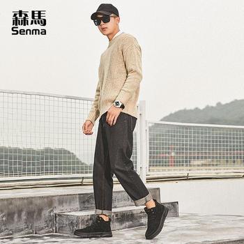 森马马丁靴男高帮夏季工装靴百搭潮流靴子男鞋