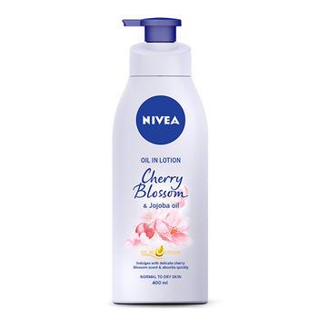 Nivea/妮维雅精华油润肤露樱花香氛400ml深层滋润