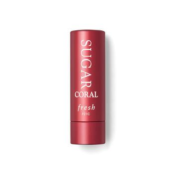 聚美直发包邮 馥蕾诗澄糖滋养护唇膏4.3g 珊瑚红