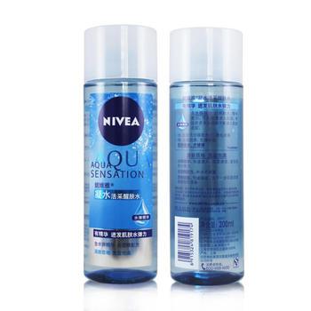 Nivea/妮维雅凝水活采醒肤水200ml保湿水精华滋润温和
