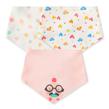 HD小龙哈彼三角巾【3条装】男女宝宝口水巾0-5个月