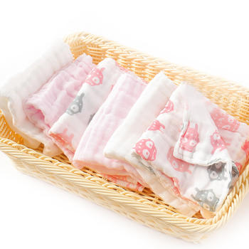 HD小龙哈彼婴儿纯棉纱布方巾手帕吸水易洗涤【6条装】