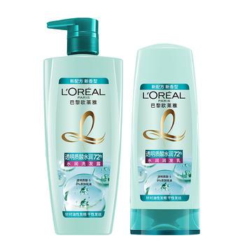 (礼盒装)欧莱雅透明质酸水润洗发水700ml+护发乳400ml