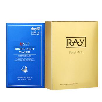 【组合装】RAY 金色修护面膜 SNP 海洋燕窝睡眠面膜