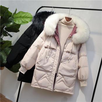 中长款棉服女韩版宽松显瘦加厚ins羽绒棉衣外套女冬