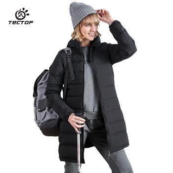 探拓 女中长款超轻羽绒服柔软透气保暖外套