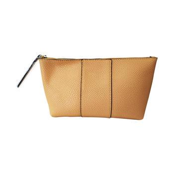雅诗兰黛裸色优雅化妆包 经典纯色便携大容量手拿包女包