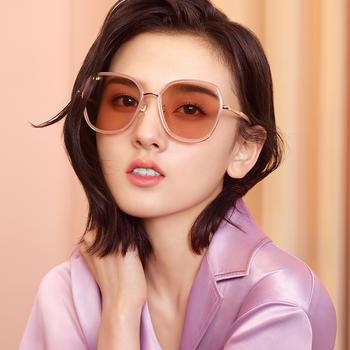 帕森太阳镜女 宋祖儿明星同款金属大框尼龙片韩版潮墨镜新品8270