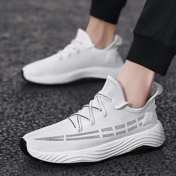 跨洋2020年春季新款飞织网布透气男休闲鞋