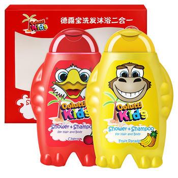 德露宝洗发沐浴二合一套盒(樱桃味&缤纷水果味)礼盒装