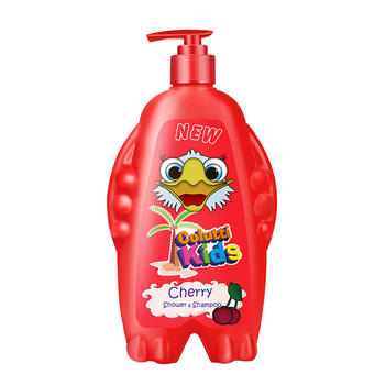 德露宝Colutti Kids日本原装进口按压式婴儿洗发沐浴二合一500ml樱桃味