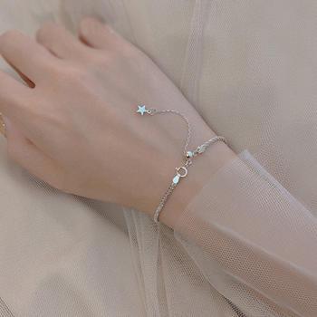 漂亮百合925银满天星手链 时尚精致气质百搭单品银手链