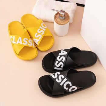 2020新款外穿拖鞋女夏天防滑厚底沙滩情侣居家室内凉拖鞋男