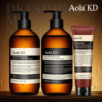 (超值3件)傲来国 去屑控油洗发水500ml+香氛沐浴露500ml+修复发膜250g