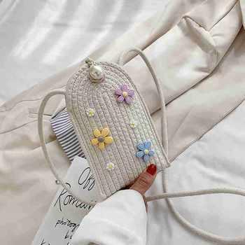 麦尔本小清新韩版休闲编织包洋气个性时尚百搭迷你单肩斜挎手机包