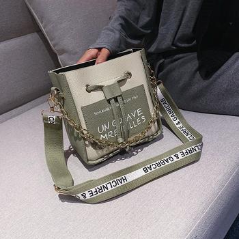麦尔本新款韩版百搭链条单肩手提包时尚洋气斜挎INS时尚网红水桶包