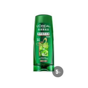 欧莱雅茶树植萃去屑润发乳 200ml*5