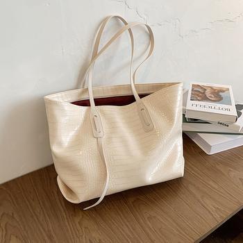 INME简约大容量包包女包流行新款潮时尚手提包网红质感单肩托特包