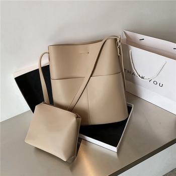 INME大容量包包女新款潮夏季韩版时尚单肩包质感简约斜挎水桶包
