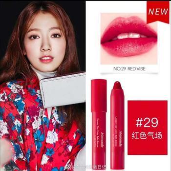 Mamonde韩国梦妆花心绒唇膏笔2.5g 29#红色气场
